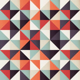 Geometric seamless pattern with colorful triangles in retro design Royalty Free Stock Photos