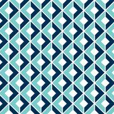 Geometric Seamless Pattern with a 3D Optical Illusion stock illustration