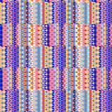 Geometric seamless pattern design. In different colors Royalty Free Stock Photography