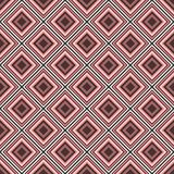 Geometric seamless pattern design in pink and brown stock images