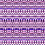Geometric seamless pattern design. In violet tones Royalty Free Stock Images