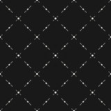 Geometric seamless pattern, diagonal grid, dots, lines. Royalty Free Stock Images