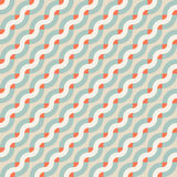 Geometric seamless pattern with diagonal waves. Vector geometric seamless pattern with diagonal waves, lines and stripes in retro colors. Striped modern bold Stock Photography