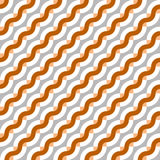 Geometric seamless pattern with diagonal waves Royalty Free Stock Photography