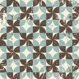 Geometric seamless pattern with diamonds and crosses, vintage or Royalty Free Stock Images