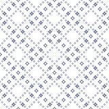 Geometric seamless pattern with diamonds, stars in diagona grid Royalty Free Stock Photo