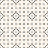 Vector geometric seamless pattern with squares, lines. Geometric seamless pattern with different sized outline concave squares, curved lines, repeat tiles Royalty Free Stock Photo
