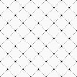 Geometric seamless pattern. Dots with dashed lines. Polka dotted texture with rhombus. Sample for textile products. Vector illustration stock illustration