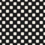Geometric seamless pattern with dots, small rounded squares. Black and white. Simple geometric seamless pattern with small rounded squares, dots. Abstract black vector illustration