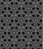 Geometric seamless pattern, endless black and white vector regul Stock Photo