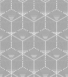 Geometric seamless pattern, endless black and white vector regul Royalty Free Stock Image