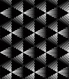 Geometric seamless pattern, endless black and white vector regul Royalty Free Stock Photos