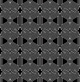 Geometric seamless pattern, endless black and white vector regul Stock Image