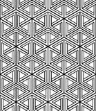 Geometric seamless pattern, endless black and white vector regul Royalty Free Stock Photo