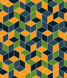 Geometric seamless pattern, endless colorful vector regular back Royalty Free Stock Photo