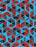 Geometric seamless pattern, endless colorful vector regular back Royalty Free Stock Photography
