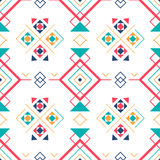 Geometric seamless pattern with ethnic ornament. ethno aztec abstract background. Stock Images