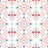 Geometric seamless pattern with ethnic ornament. ethno aztec abstract background. Royalty Free Stock Photos