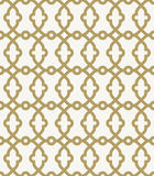Geometric Seamless  Pattern. Fine geometric  golden pattern with oriental elements. Seamless grill for backgrounds Royalty Free Stock Images