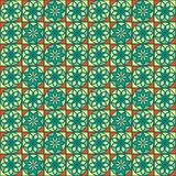 Geometric seamless pattern with flower Stock Photo
