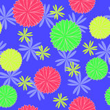 Geometric seamless pattern. With flower element royalty free illustration