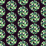 Geometric seamless pattern with gems. Vector Stock Photo