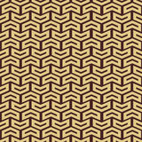 Geometric Seamless Pattern. Geometric pattern with golden arrows. Seamless abstract background stock illustration
