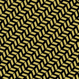 Geometric Seamless Pattern. Geometric pattern with golden arrows. Seamless abstract background royalty free illustration