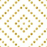 Geometric Seamless pattern of golden sequins. Gold spangle background. Diamond shape pattern. Vector illustration Stock Photography