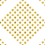 Geometric Seamless pattern of golden sequins. Gold spangle background. Diamond shape pattern. Vector illustration Royalty Free Stock Image