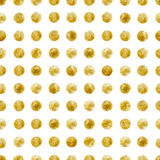 Geometric Seamless pattern of golden sequins. Gold spangle background. Vector illustration Royalty Free Stock Photo