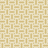 Geometric Seamless Pattern. Seamless golden and white ornament. Modern geometric pattern with repeating elements Stock Photos