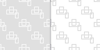 Geometric seamless pattern. Gray abstract background with square elements. Vector illustration Royalty Free Stock Images
