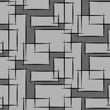 Geometric seamless pattern with gray restangle Royalty Free Stock Photos
