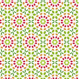 Geometric seamless pattern of green, yellow and red autumn  leav. Es on a white background Stock Image