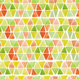 Geometric seamless pattern with hand drawn watercolor squares and triangles. Modern colorful mosaic abstract background with trian. Gles, rhombus, squares royalty free illustration