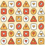Geometric seamless pattern with hearts Royalty Free Stock Photo