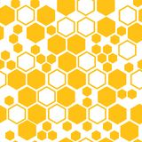 Geometric seamless pattern with honeycomb. Vector illustration royalty free illustration