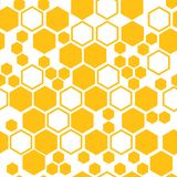 Geometric seamless pattern with honeycomb. Vector illustration vector illustration