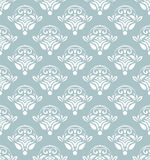 Geometric Seamless Pattern. Seamless light blue and white ornament. Modern stylish geometric pattern with repeating elements Royalty Free Stock Photos