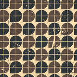 Geometric seamless pattern with mess aged texture. Royalty Free Stock Photography