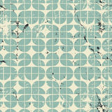 Geometric seamless pattern with mess aged texture. Royalty Free Stock Photos