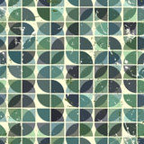 Geometric seamless pattern with mess aged texture. Stock Image