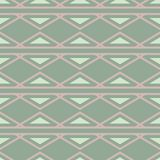 Geometric seamless pattern. Olive green background with pale pink elements. For wallpapers, textile and fabrics Stock Image