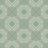 Geometric seamless pattern. Olive green background with pale pink elements. For wallpapers, textile and fabrics Royalty Free Stock Photos