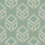 Geometric seamless pattern. Olive green background with pale pink elements. For wallpapers, textile and fabrics Royalty Free Stock Image