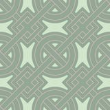 Geometric seamless pattern. Olive green background with pale pink elements. For wallpapers, textile and fabrics Royalty Free Stock Photography