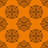 Geometric seamless pattern on orange royalty free illustration