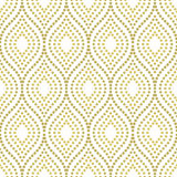Geometric Seamless  Pattern. Geometric ornament. Seamless  background. Abstract texture with repeating dotted golden waves Royalty Free Stock Photography