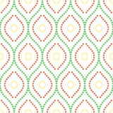 Geometric Seamless  Pattern. Geometric ornament. Seamless  background. Abstract texture for wallpapers. Repeating vertical dotted colorful waves Stock Photography